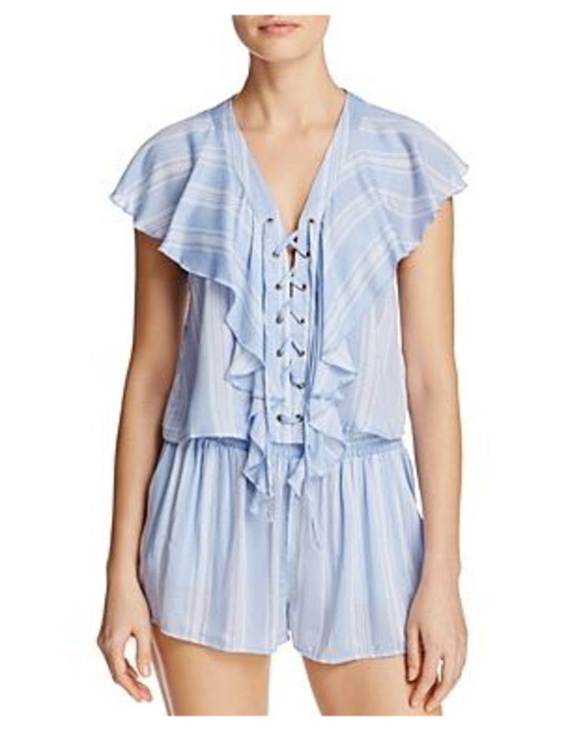 Show Me Your MuMu Treasure Lace-Up Top