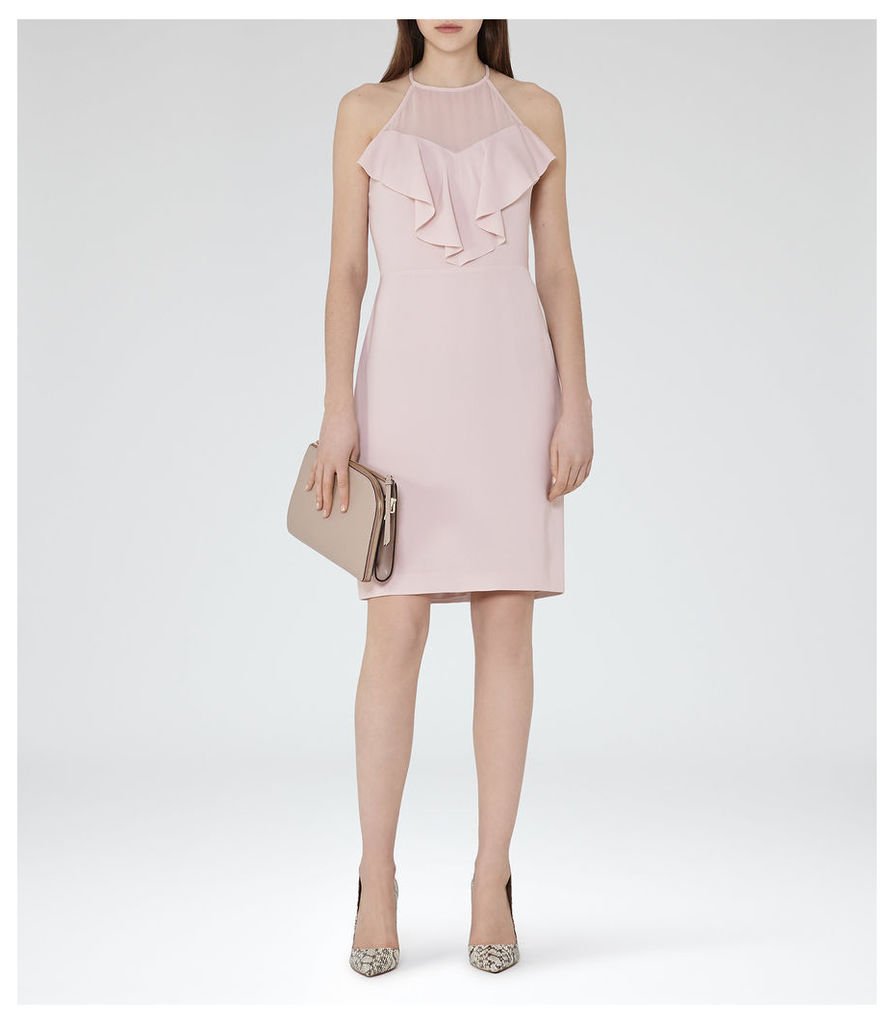 REISS River - Womens Ruffle-detail Dress in Pink
