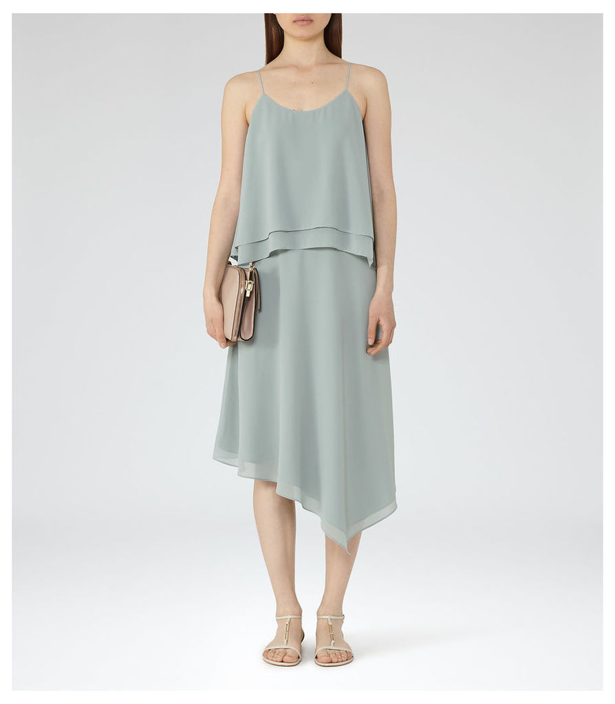 REISS Ansley - Womens Tiered Cami Dress in Green
