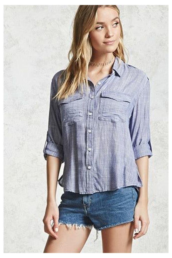 Micro Stripe Button-Down Shirt