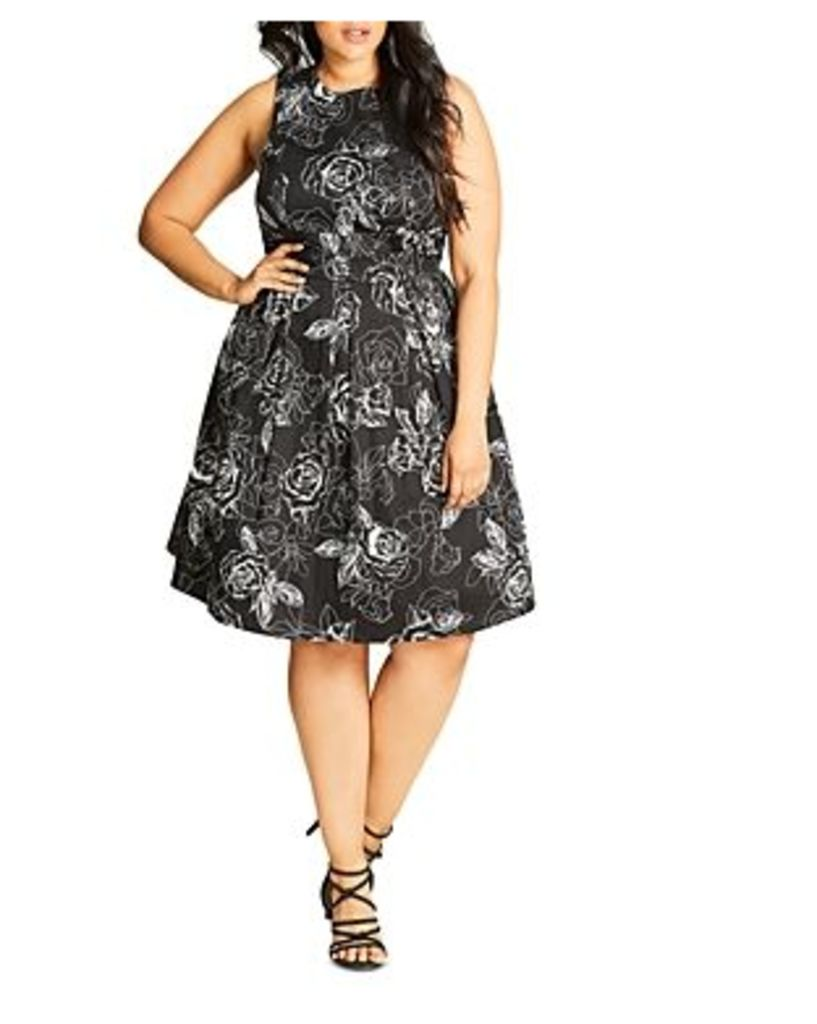 City Chic Fab Floral Print Dress