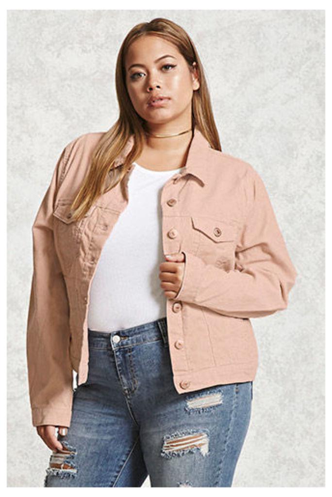 Plus Size Corduroy Jacket