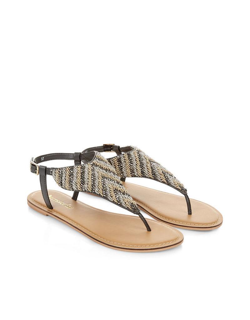 Karinda Embellished Thong Sandals