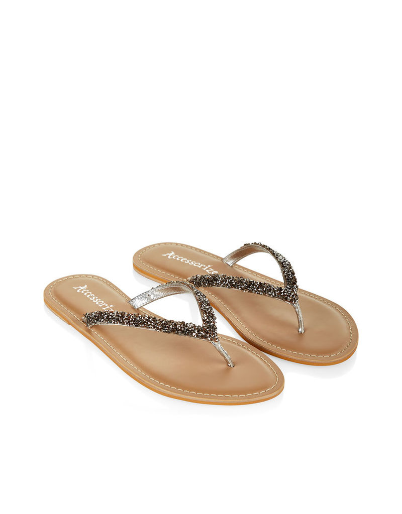 Felicity Sparkle Thong Sandals