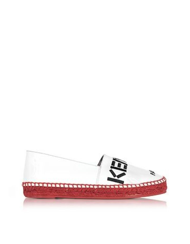 Kenzo - Kenzo Paris White Patent Leather Espadrilles w/Red Sole
