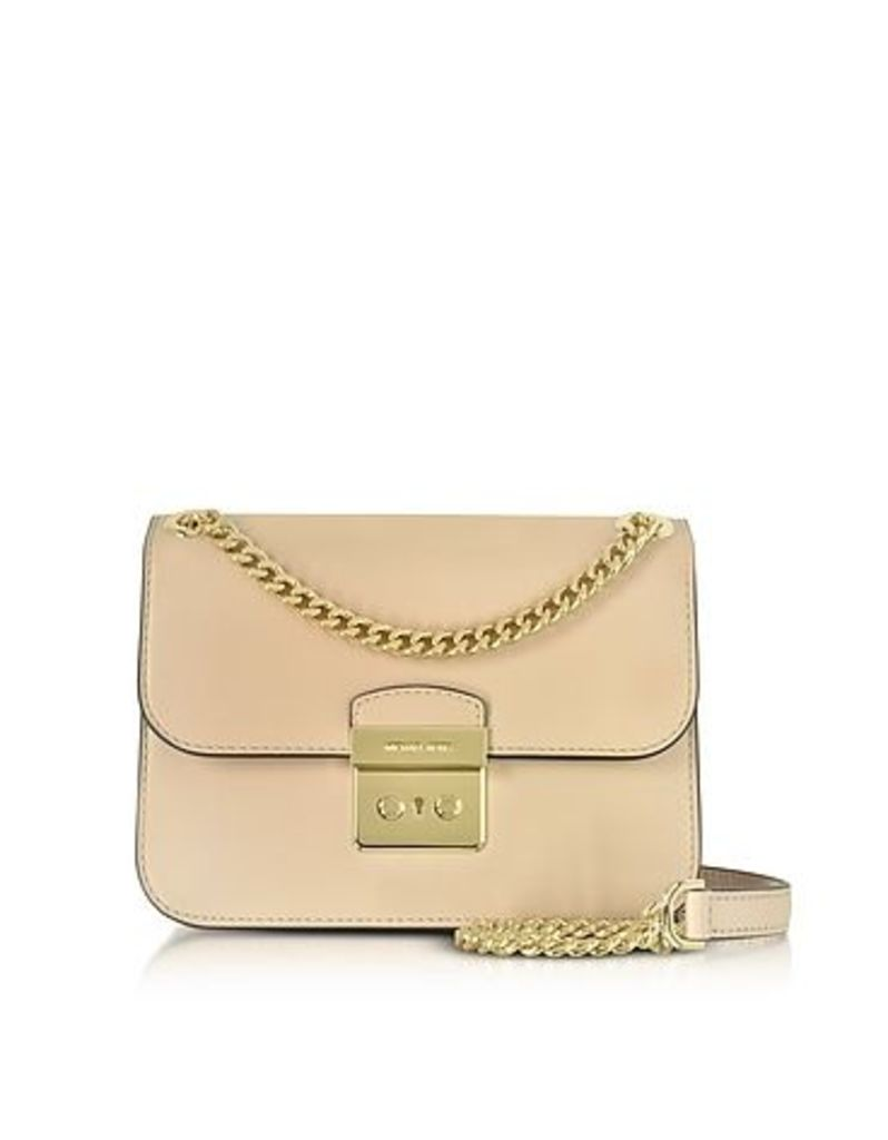 Michael Kors - Sloan Editor Medium Oyster Leather Chain Shoulder Bag