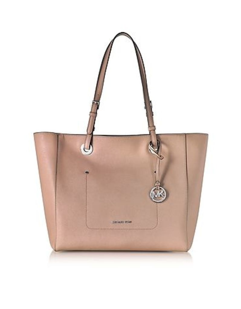 Michael Kors - Walsh Large Fawn Saffiano Leather EW Top-Zip Tote