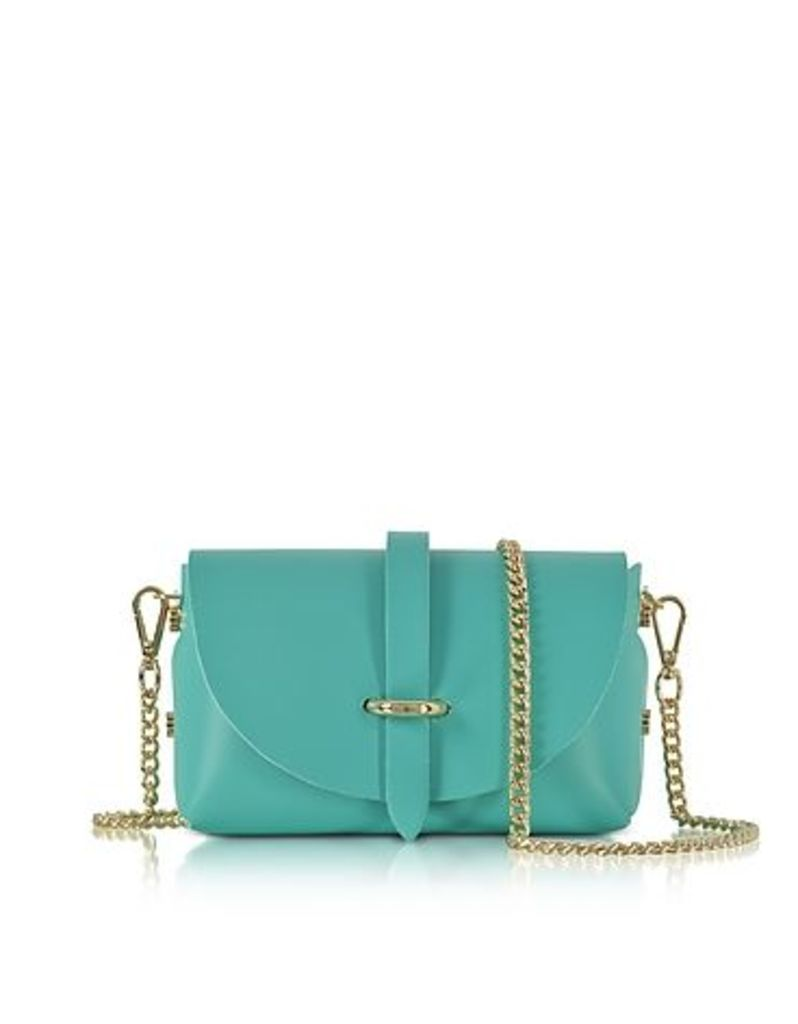 Le Parmentier - Caviar Small Turquoise Leather Shoulder Bag