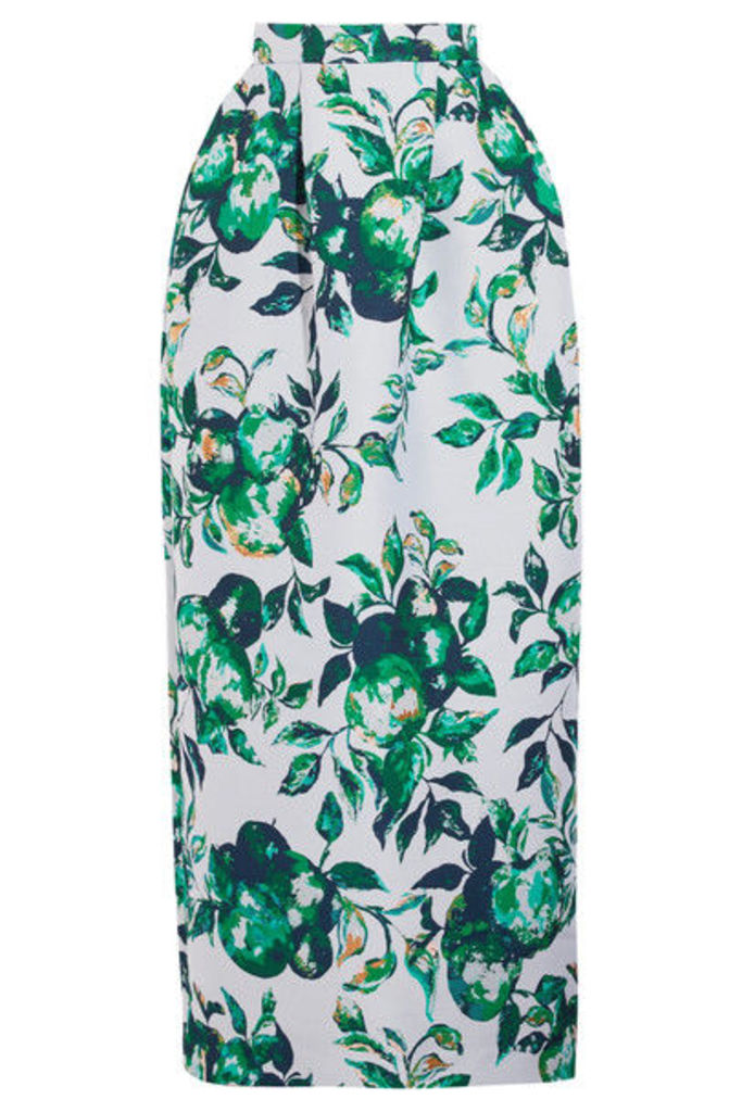 Merchant Archive - Metallic Jacquard Maxi Skirt - Green