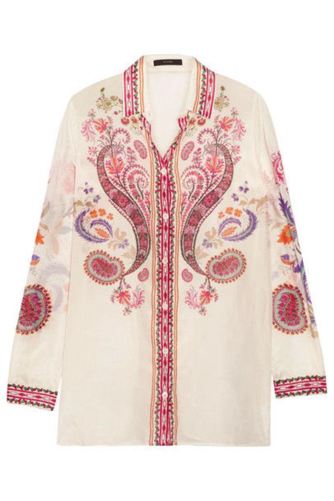 Etro - Printed Silk And Cotton-blend Shirt - White