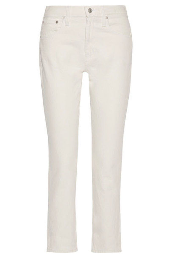 Madewell - The Perfect Summer Cropped High-rise Straight-leg Jeans - White