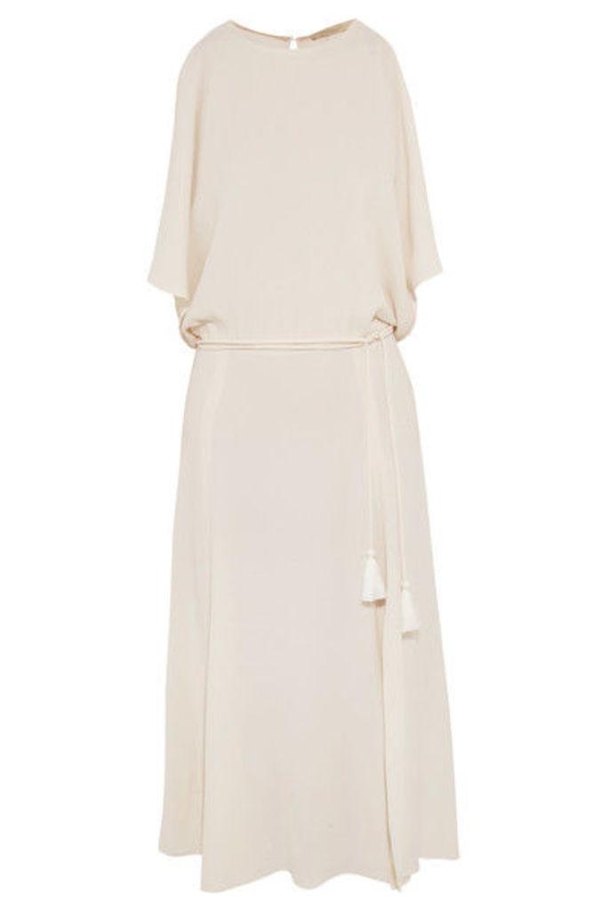 Vanessa Bruno - Galla Cold-shoulder Open-back Crepe Midi Dress - Ivory