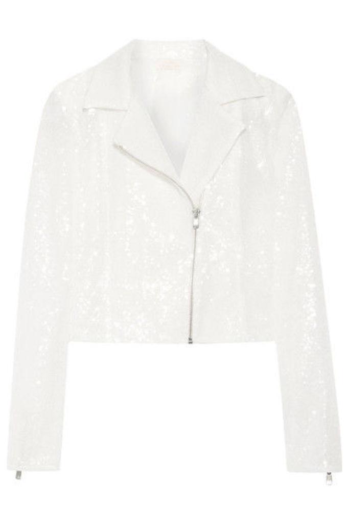 Rime Arodaky - Zippora Sequined Tulle Jacket - White