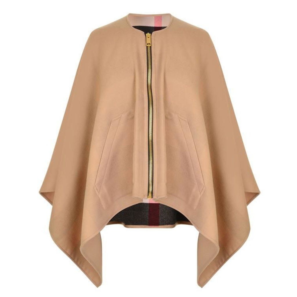 BURBERRY LONDON Merino Zip Poncho
