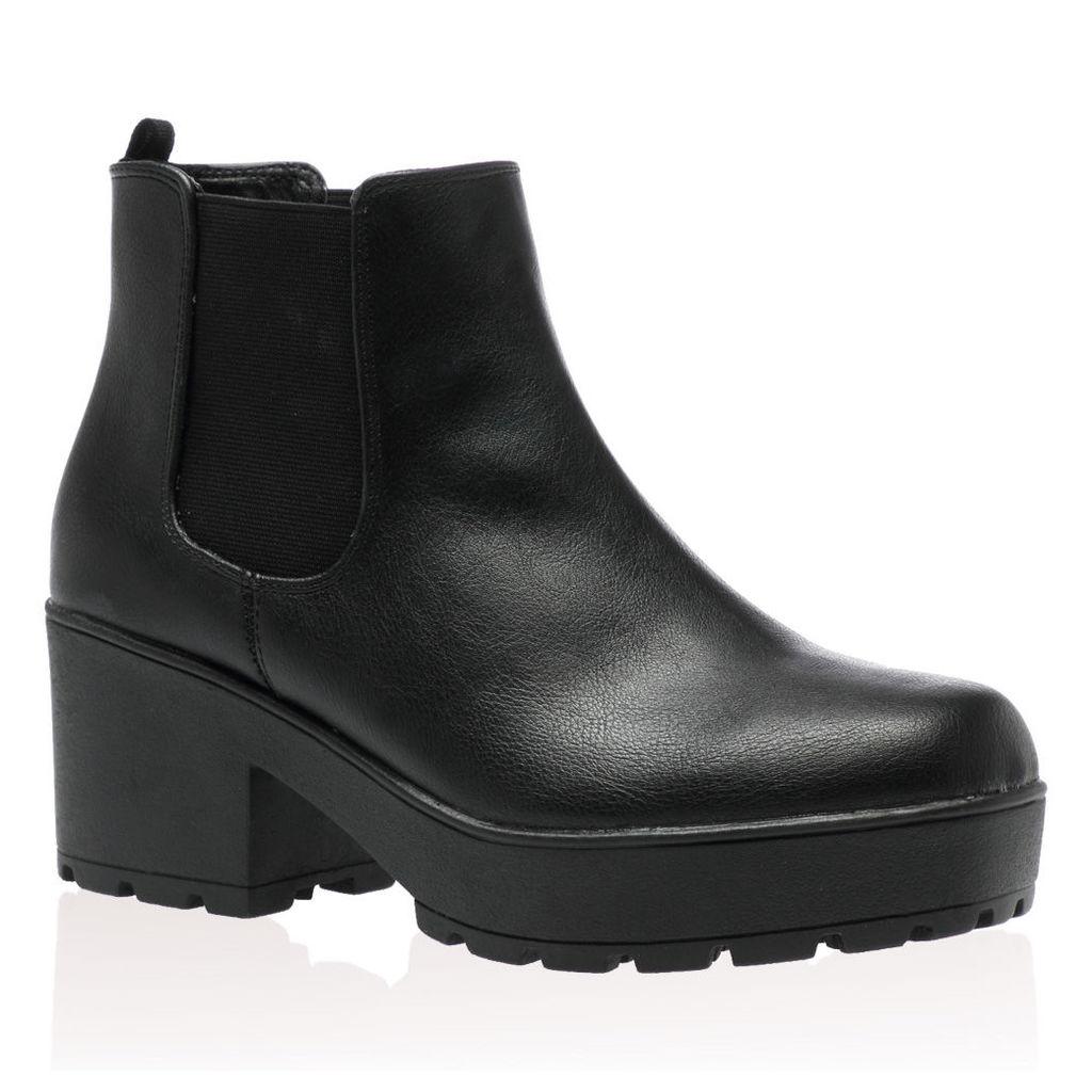 Public Desire Aria  Ankle Boots, Black