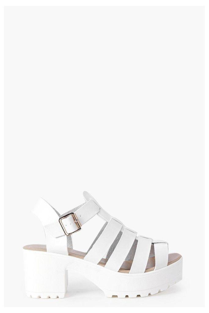 Fisherman Cleated Sandal - white