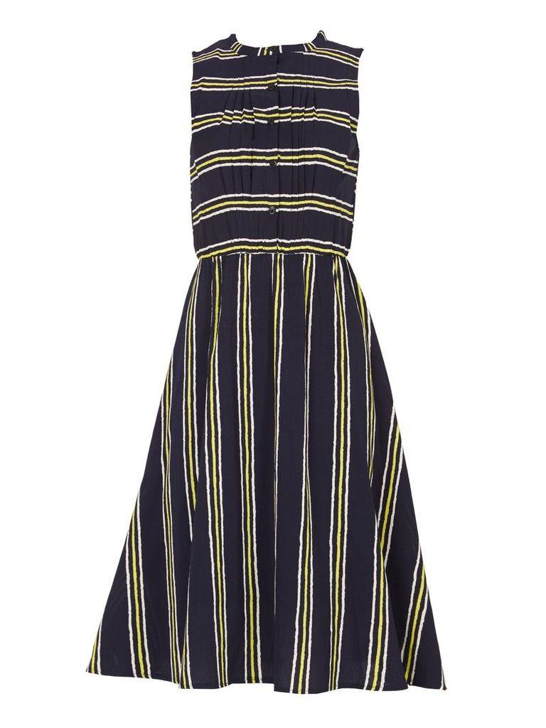 TENKI Sleeveless Stripy Midi Dress, Blue