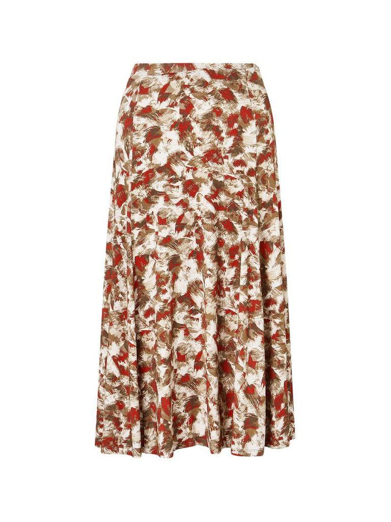 Eastex Shell Print Jersey Skirt, Multi-Coloured