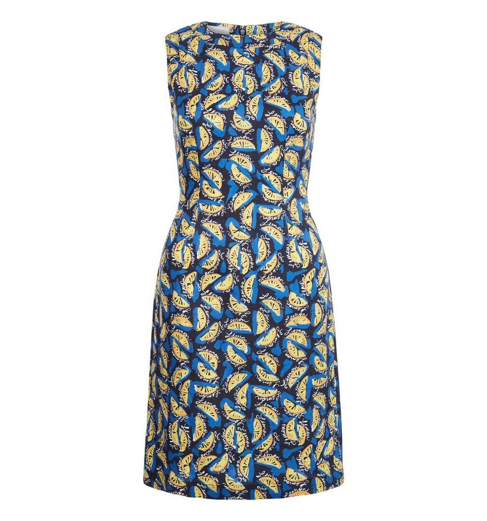 Hobbs Amalfi Lemons Dress, Multi-Coloured