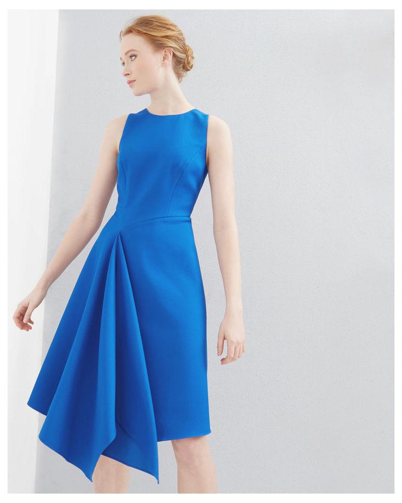 Ted Baker Draped asymmetric dress Mid Blue