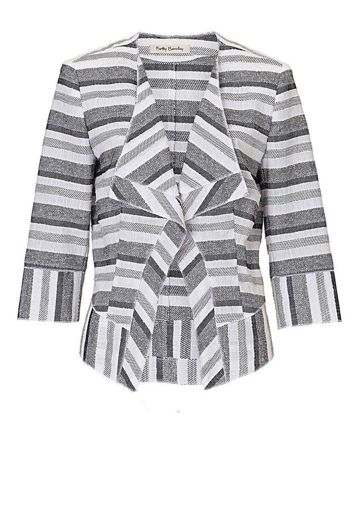 Betty Barclay Textured stripe jacket, White