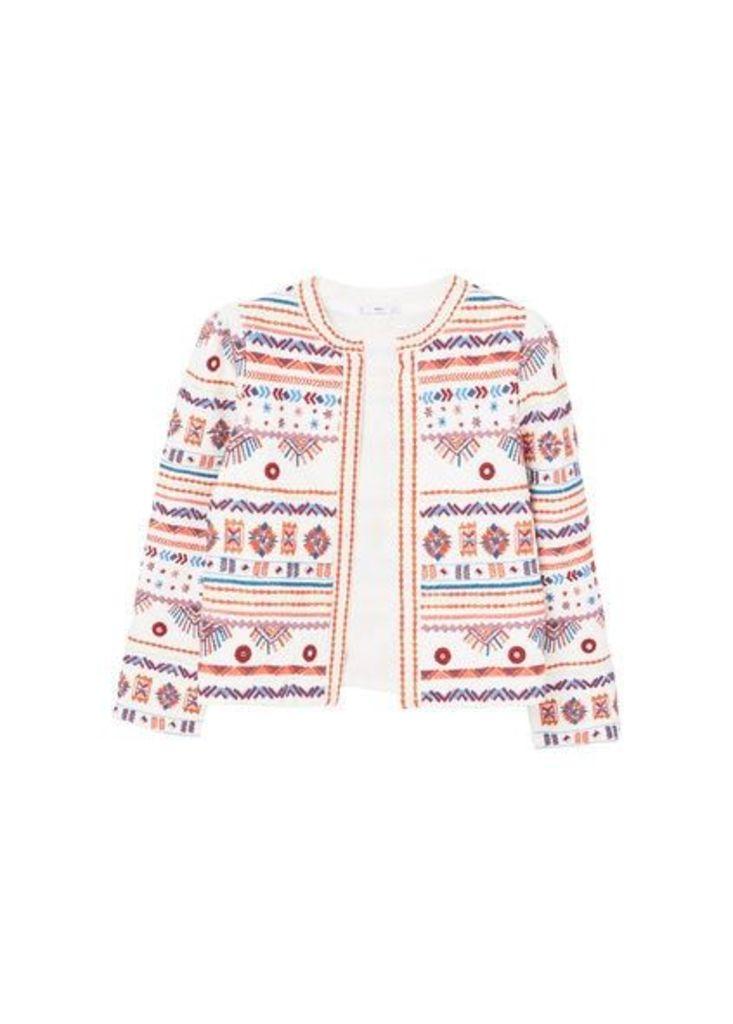 Embroidery bead jacket