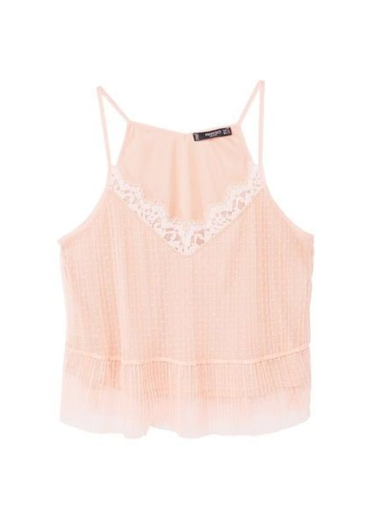Lace tulle top