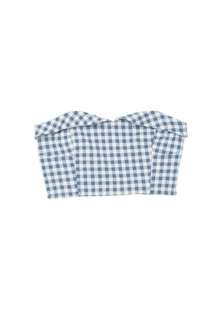 Gingham cropped top