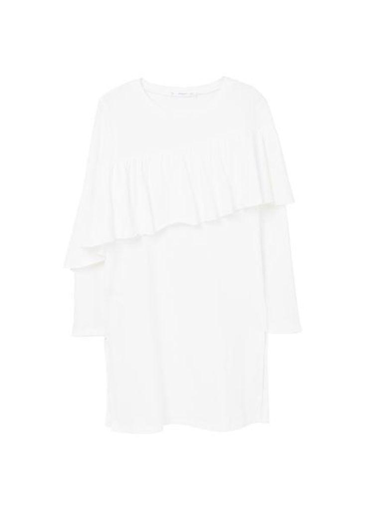 Ruffle long t-shirt