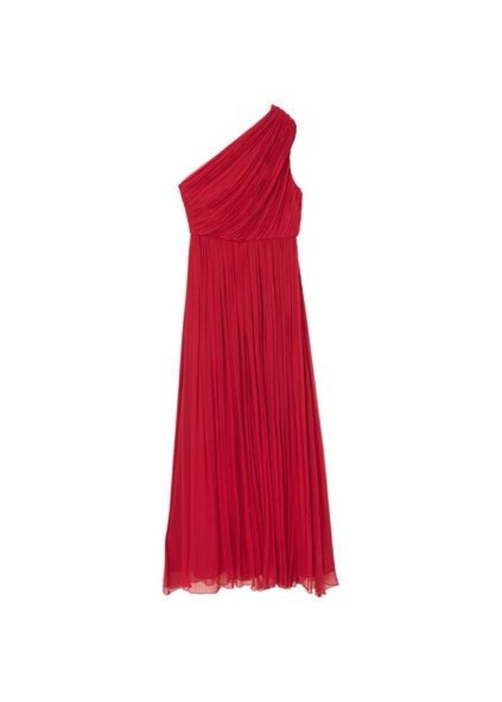 Silk asymmetric gown