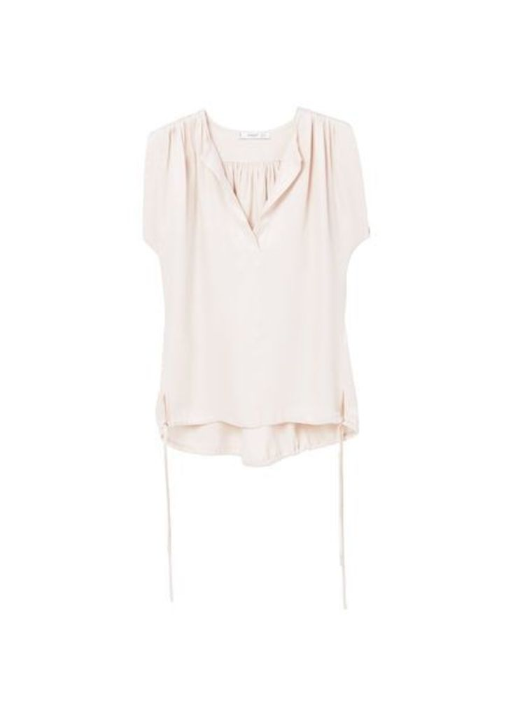 Cord flowy blouse