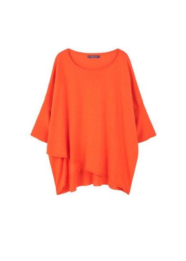 Cotton linen-blend sweater