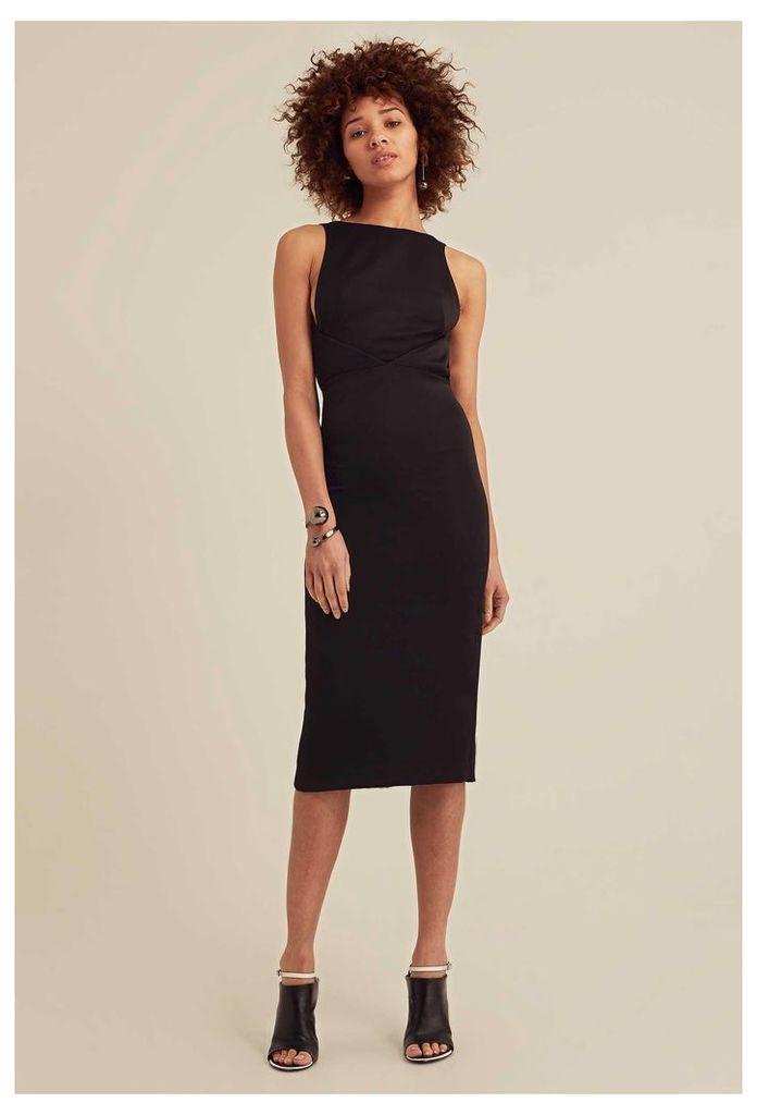 Nytro Backless Midi Dress - Black