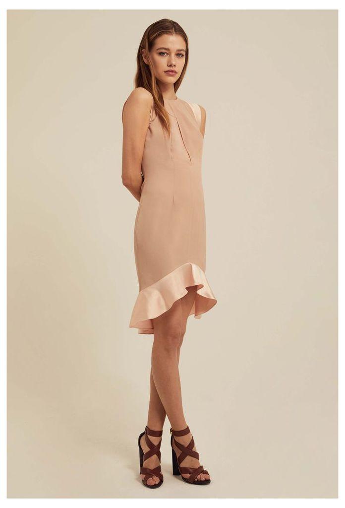 Pierre Frill Hem Mini Dress - Pink Sand