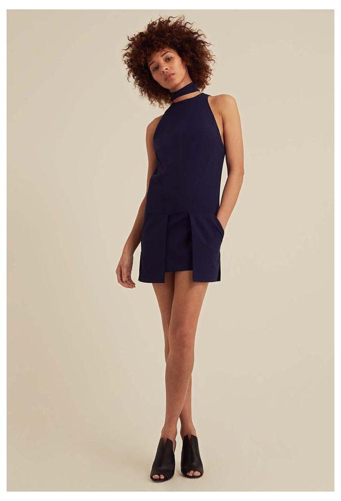 Bella Choker Detail Mini Dress - Eclipse Navy