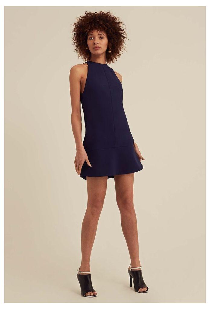 Delilah High Neck Mini Dress - Eclipse Navy