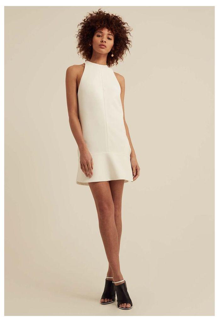 Delilah High Neck Mini Dress - White