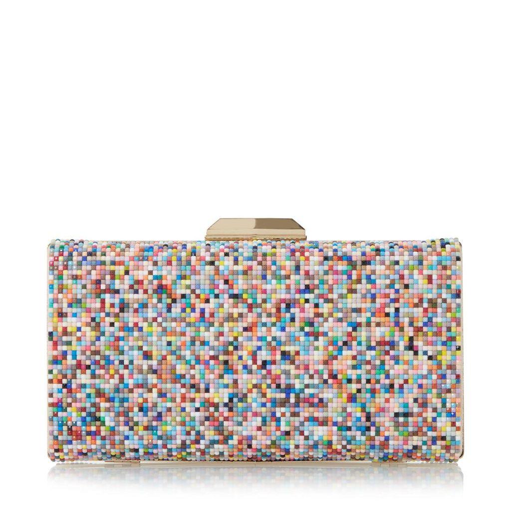 Bonansa Multi Coloured Beaded Clutch Bag