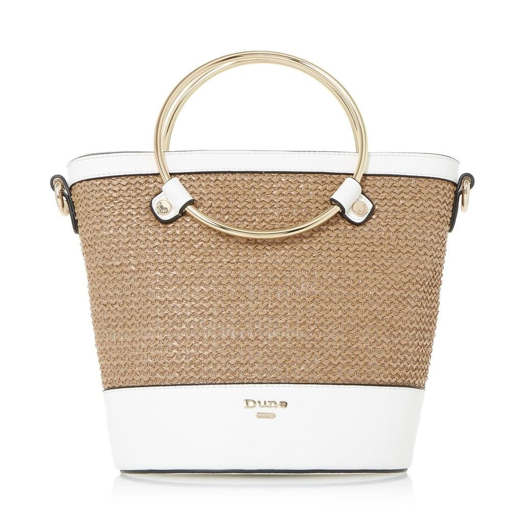 Dircle Raffia Detail Bucket Bag