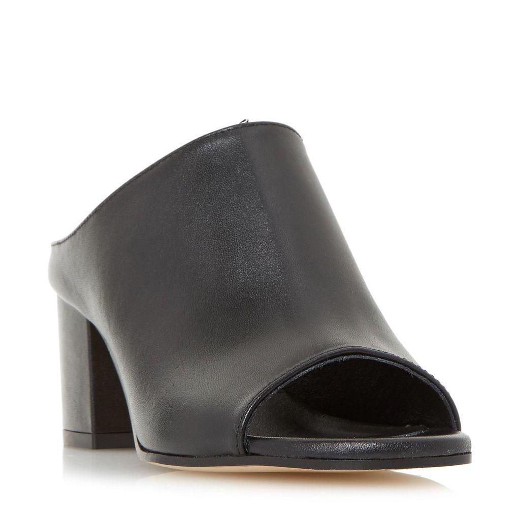 Ilaria Peep Toe Heeled Mule Sandal