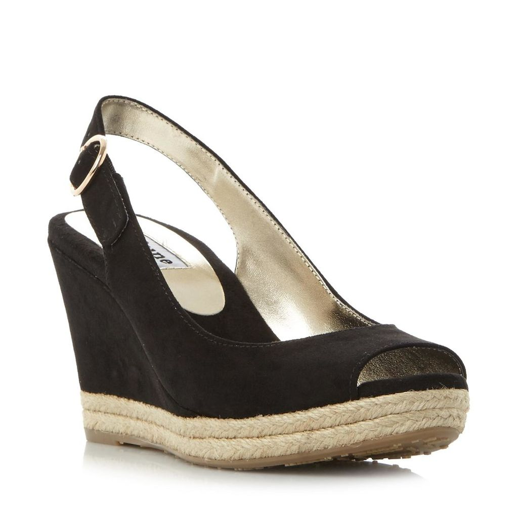 Klick Espadrille Trim Wedge Sandal