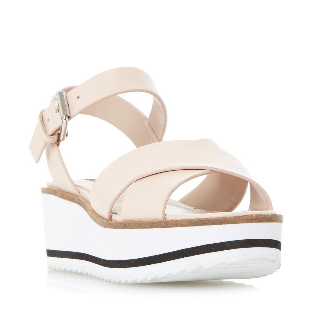 Kassius White Eva Shark Sole Flatform Sandal