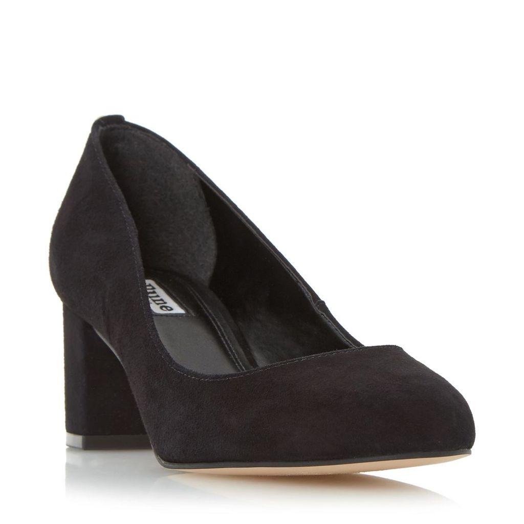 Atlas Round Toe Block Heel Court Shoe