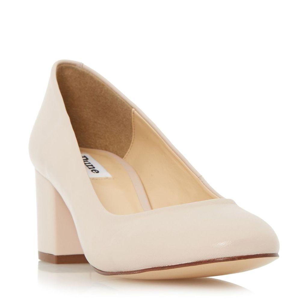 Annalena Block Heel Round Toe Court Shoe