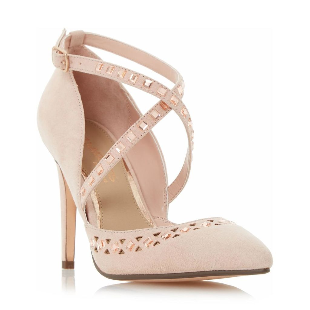 Cosmos Embellished Cut Out Court Shoe