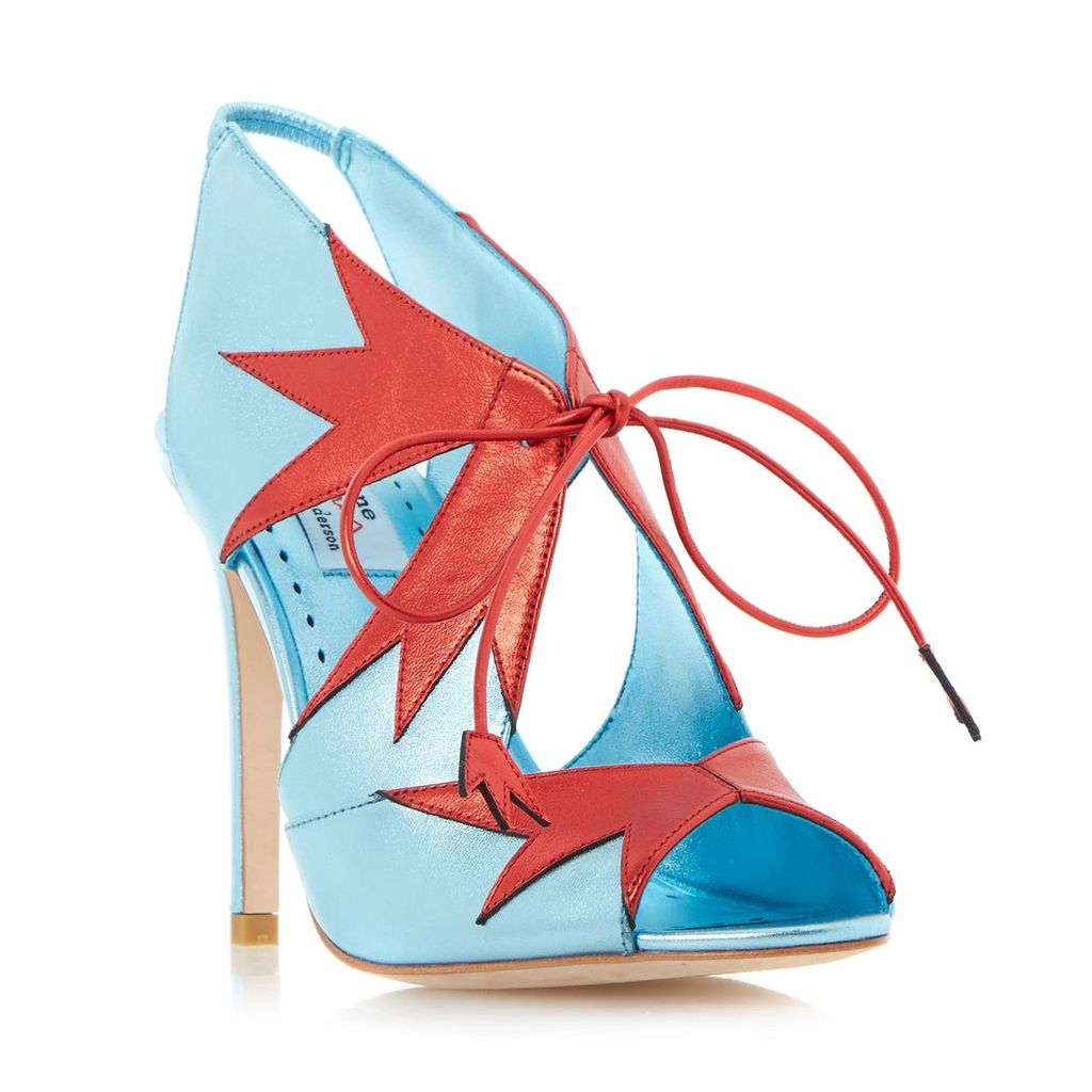 Dream Girl Star Lace Up High Heel Sandal