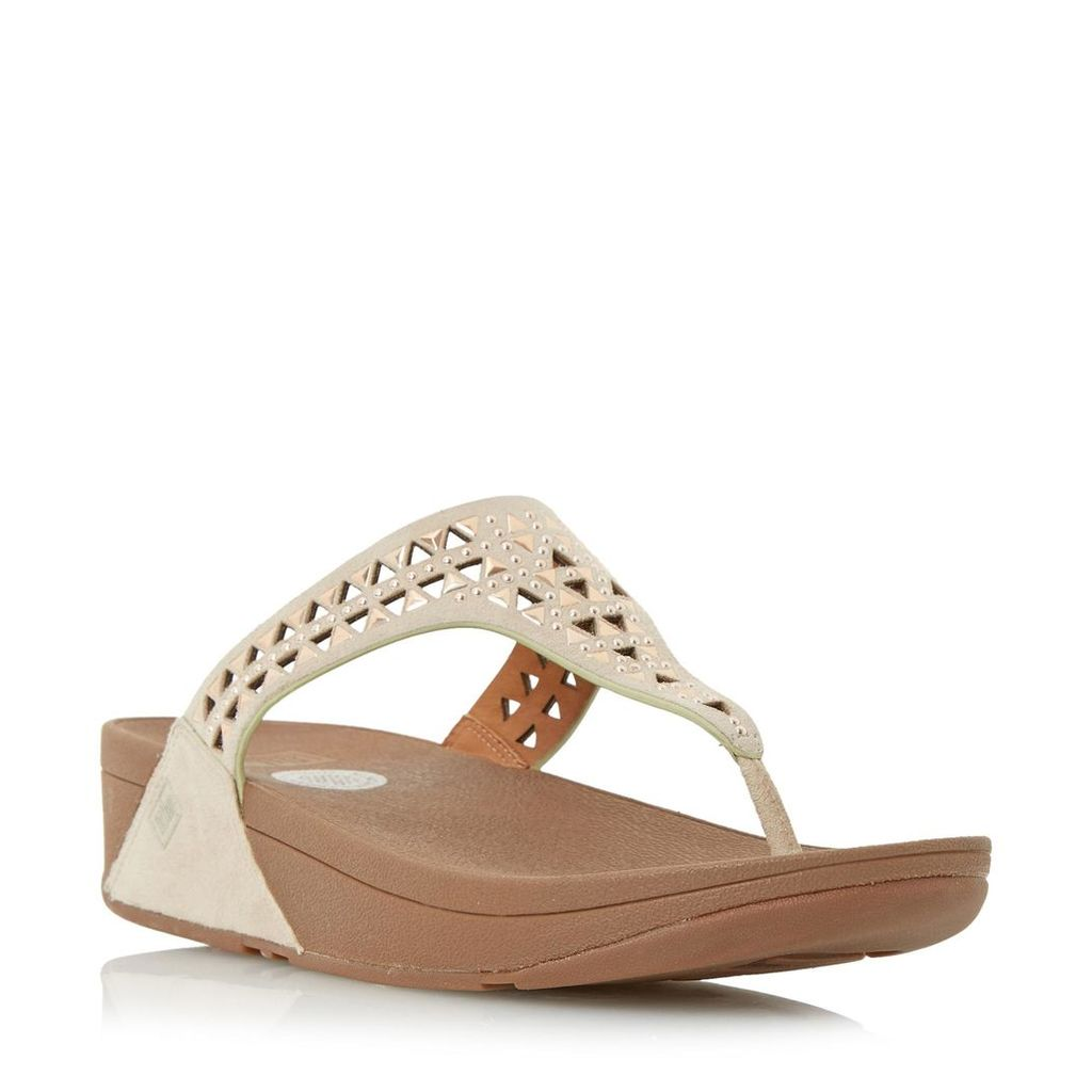 Carmel Embellished Toe Post Wedge Sandal