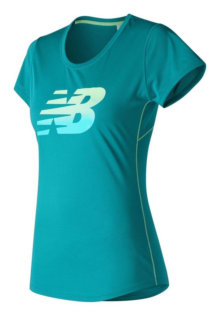 New Balance Accelerate Short Sleeve Graphic Women's Performance WT53162OMB