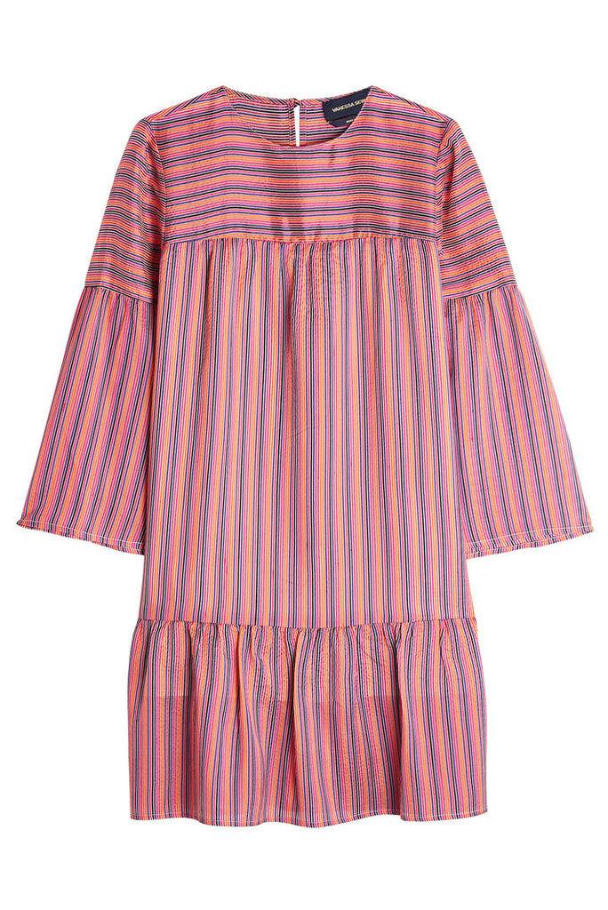Vanessa Seward Striped Silk Dress