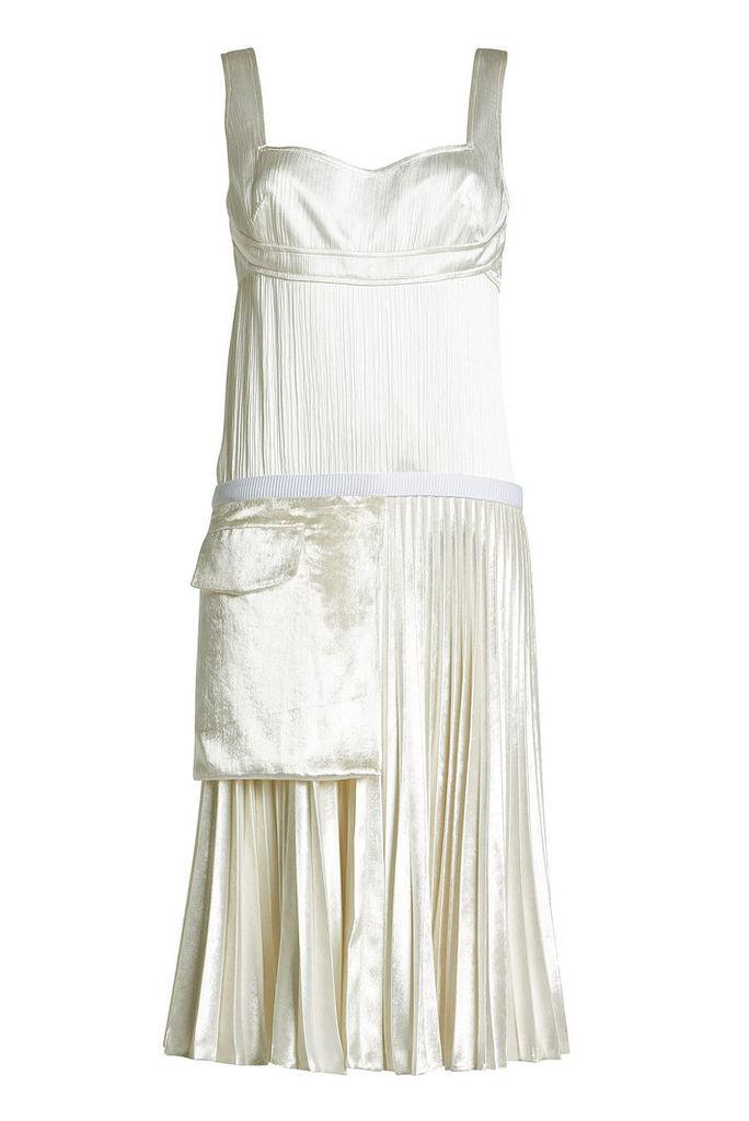 Victoria Beckham Silk and Velvet Dress